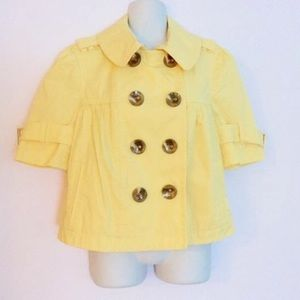 Juicy Couture yellow cropped jacket